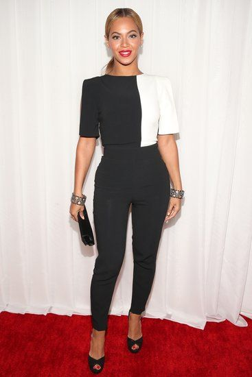 Beyoncé Brings a Black-and-White Jumpsuit to the Grammys - fashion world and fashion show