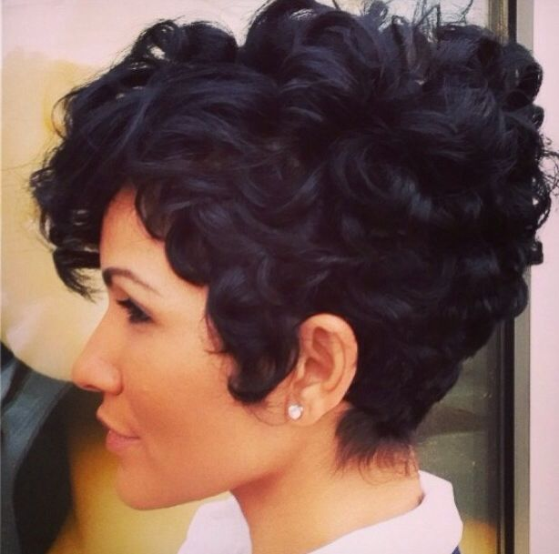 Enjoyable 1000 Ideas About Curly Pixie Cuts On Pinterest Curly Pixie Short Hairstyles For Black Women Fulllsitofus