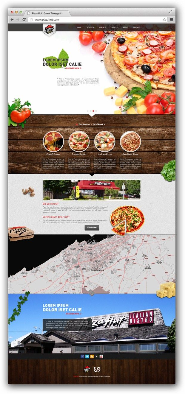 Pizza Hut website. Love how they've used photography to revive the feel and tone