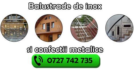 Balustrade de inox Botosani - Confectii inox RO