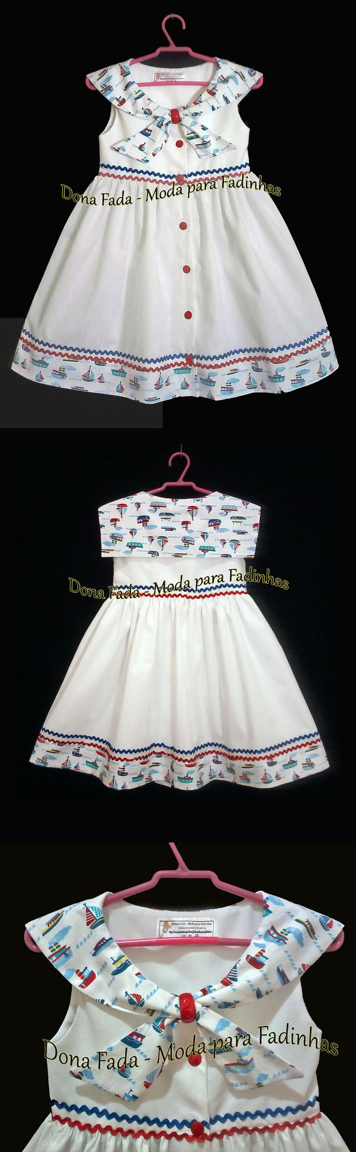 Vestido Marinheiro - 2e    anos_______________baby - infant - toddler - kids - clothes for girls - - - https://www.facebook.co m/dona.fada.moda.para.fadinhas/