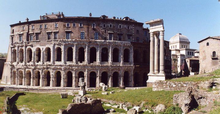 Il Teatro Marcello (c.a 13 a.C.) è un teatro della Roma antica, tuttora parzialmente conservato, innalzato per volere di Augusto  nella zona meridionale del Campo Marzio  tra il fiume Tevere e il Campidoglio.