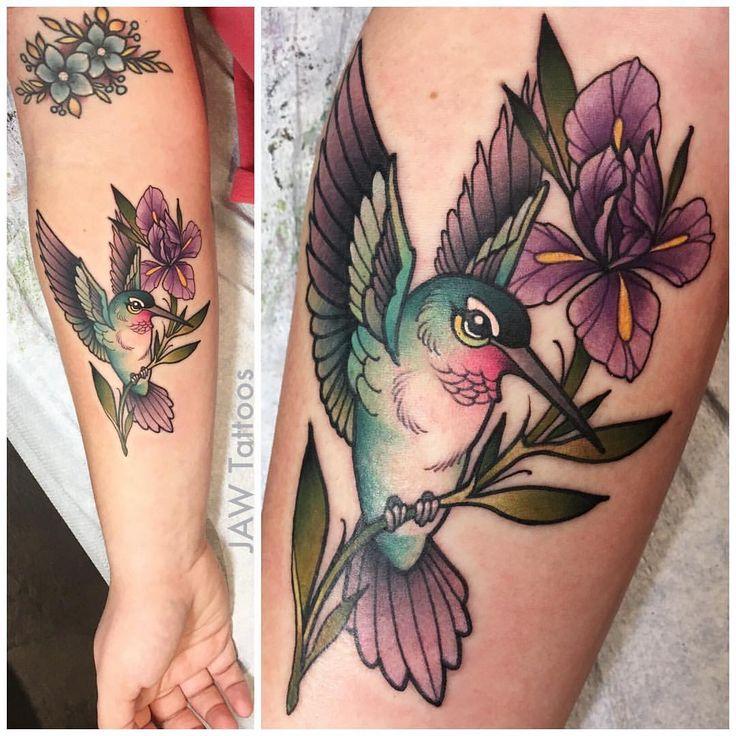 Hummingbird and Iris Flower for canndancee ! Had so much