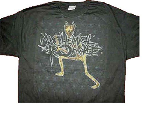 My Chemical Romance 'Minion' negro T Camisa tamaño XL = 46cm de pecho #camiseta #friki #moda #regalo