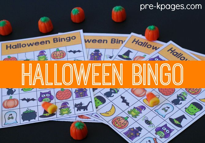 Halloween Printable Bingo Game for Kids
