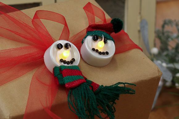 Simple and Sweet Tealight Snowman Ornaments : Factory Direct Craft Blog