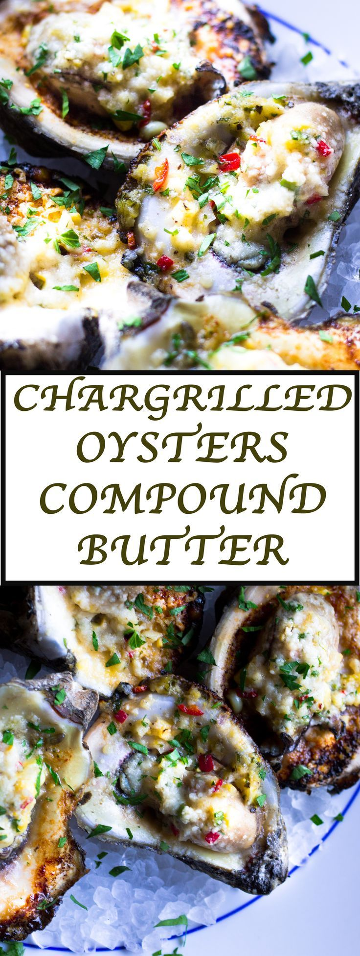Delicious and addicting chargrilled oysters inspired by the famous Drago's restaurant in New Orleans. Oysters topped with a compound butter and grilled until bubbling hot! So good!