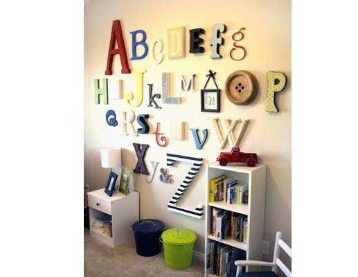 nursery craftWall Art, Wall Decor, Alphabet Wall, Kids Room, Kid Rooms, Play Room, Playrooms, Babies Rooms, Baby Shower