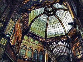 Interior of the Art Nouveau 'Párizsi Udvar' in Budapest, Hungary [1280x960] : ArchitecturePorn