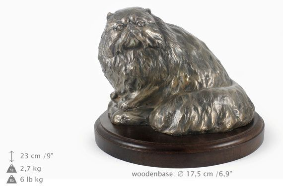Persian Cat cat wooden base statue limited by ArtDogshopcenter