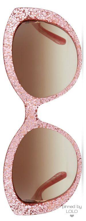 Lunettes de soleil rose pastel et pailletées - Sunglasses pink sequins Kate Spade | LOLO❤