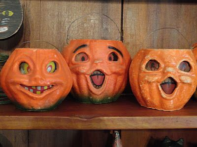 """Old """"punkins""""...I had one like this when I was little..."""