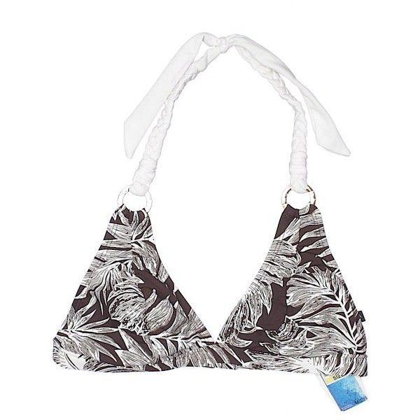 Nautica Swimsuit Top ($18) ❤ liked on Polyvore featuring swimwear, bikinis, bikini tops, brown, brown bikini, tankini tops, brown bikini top, swimsuit tops and nautica