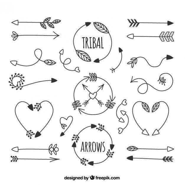 Flechas tribales dibujadas a mano