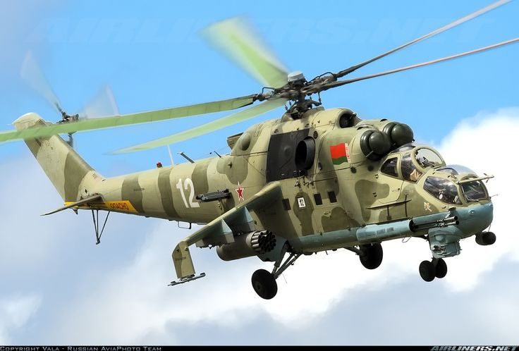 Belarusian Air Force Mil Mi-24P 12 WHITE