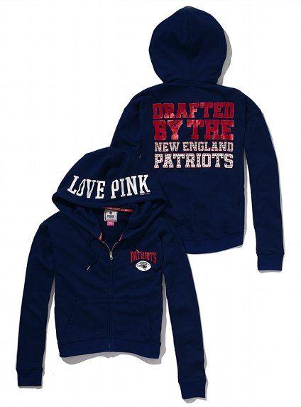 ... Victorias Secret PINK® New England Patriots Bling Slouchy Zip Hoodie  VictoriasSecret . 555b29139