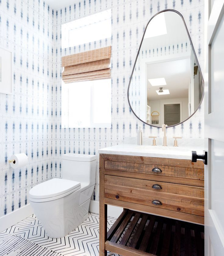 What Do You Guys Think About Mixing Bold Patterns In A Space Or We Say Go For It Natalie Myers Naile Bathroom Trends Powder Room Design Powder Room Decor