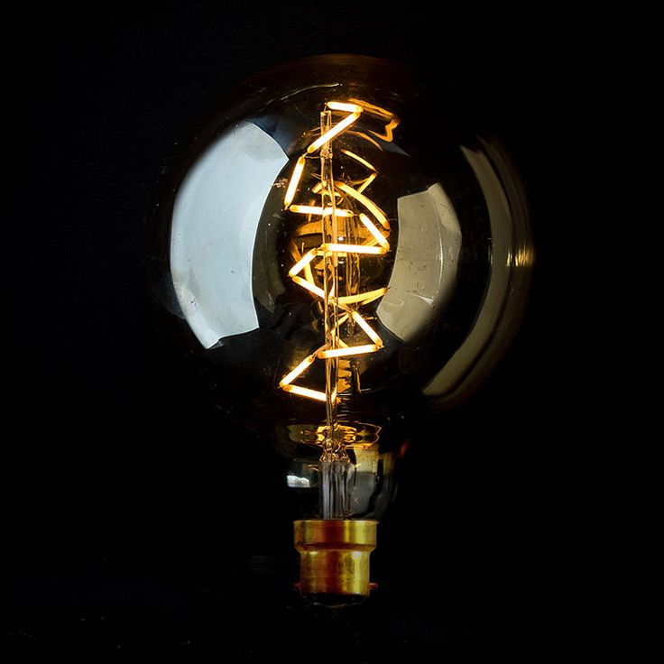 NEW VINTAGE LED's tie you the best of both worlds!  Modern Day Old World Charm.....spiral filament led bulb globe 125 bayonet clear