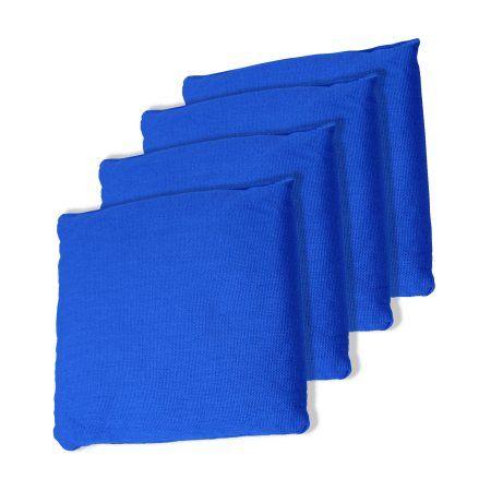 5 inch Championship Cornhole Replacement Bean Bag - Set of 4, Blue