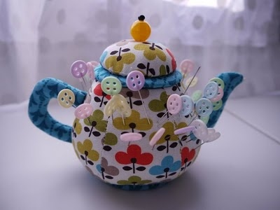Tea pot pincushion