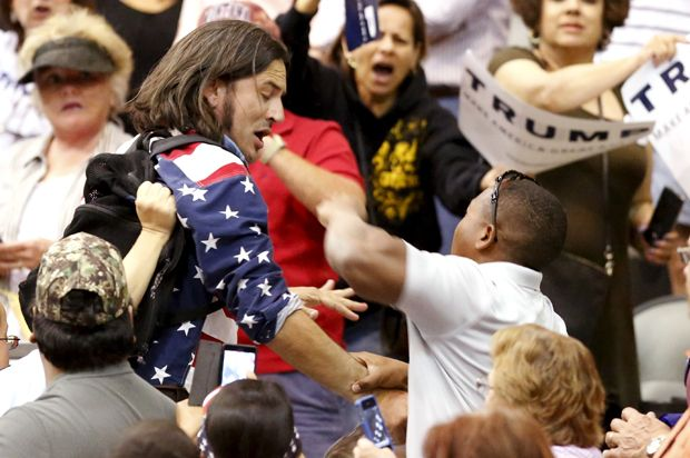 When black Donald Trump supporters attack: Race, fascism and Trump's political blood sport