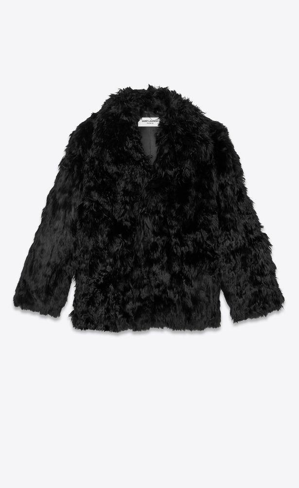 d2eaae555d6 SAINT LAURENT Coats Man Short coat in black alpaca a_V4 | YSL 2018 ...