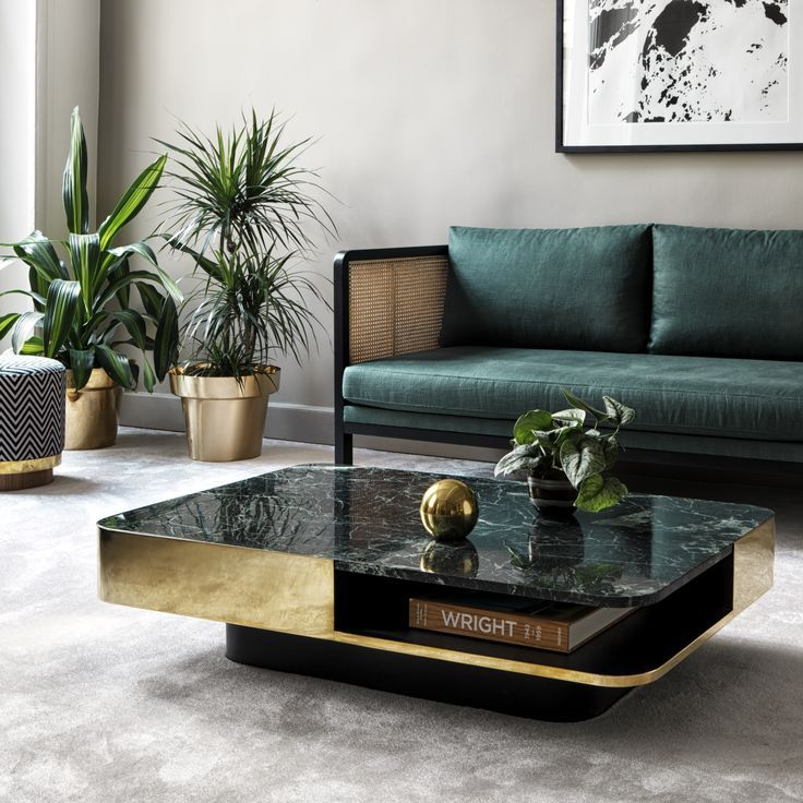 Coffee Table Lounge Marble Green Red Edition The Lounge Table Is Available Wi Table Decor Living Room Marble Tables Living Room Marble Coffee Table Living Room