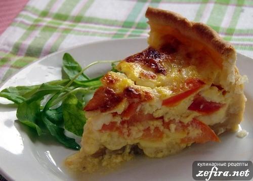Feta-tomato pie:  http://zefira.net/recept-otkrytogo-piroga-s-pomidorami-i-brynzoj/