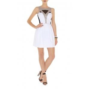 Karen Millen Sporty colour block dress black multi DN265