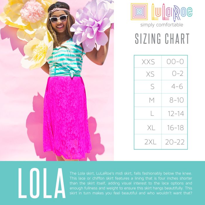 size chart lularoe