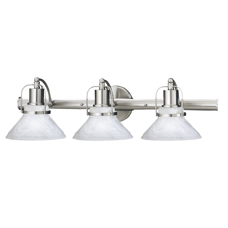 Thomas lighting m170378 3 light newport bathroom light brushed nickel