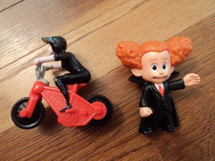 SOLD!!! Lot of 2 McDonald's Hotel Transylvania 2 Toys, Mavis on Motorcycle, Dennis #McDonalds #kids