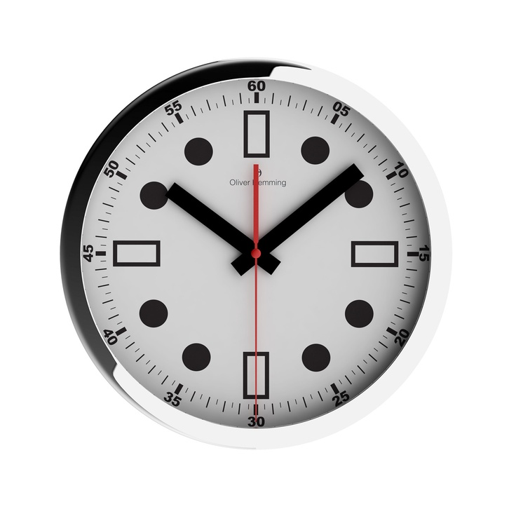 Chrome Wall Clock | 家具 | Pinterest