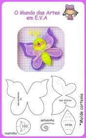 imagenes de moldes de mariposas hechas en foami - Buscar con Google