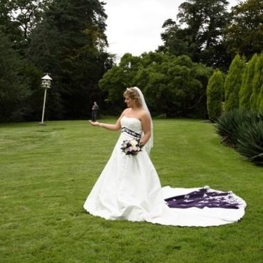 The 25 best recycled bride ideas on pinterest wedding dress love this in purple alfred angelorecycled brideeggplantswedding junglespirit Gallery