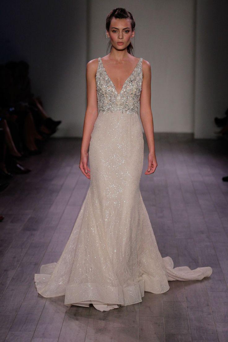 Beautiful modern princess worthy ball gowns by lazaro for Lazaro a line wedding dress