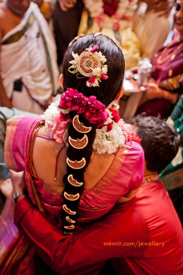 hair accessories for a Tamil bride, South Indian bride