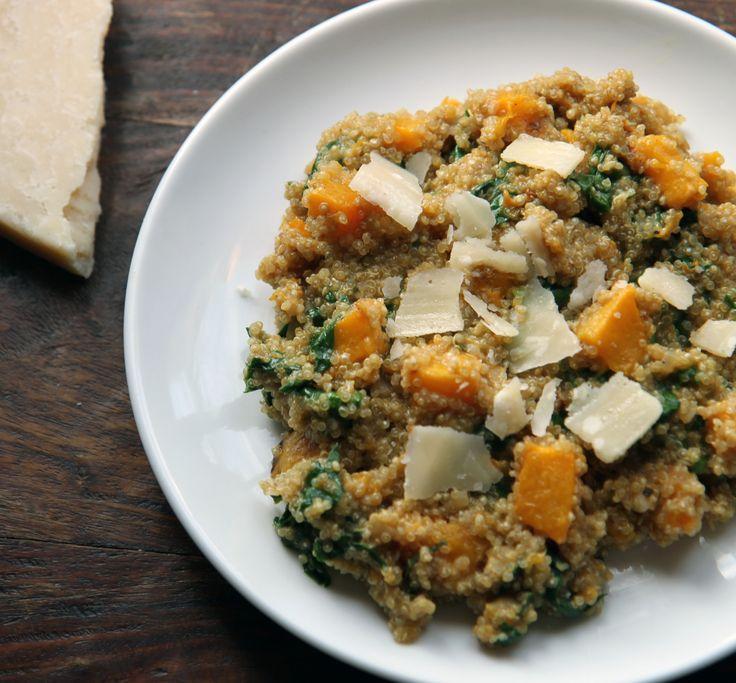 Butternet squash risotto with quinoa