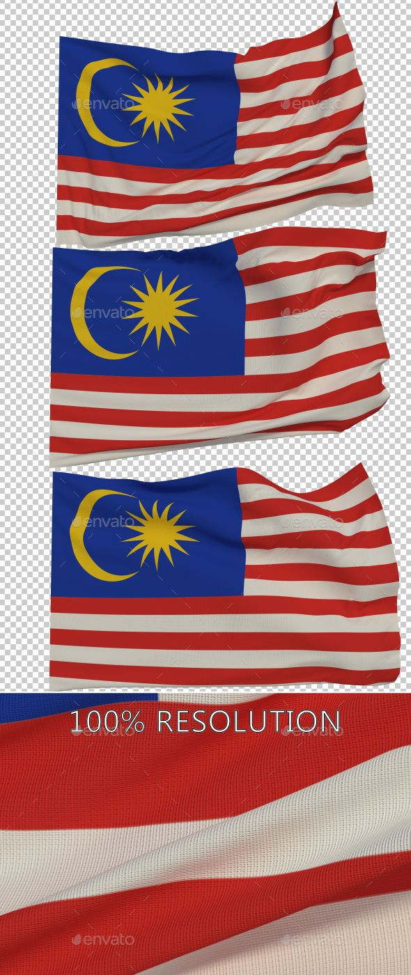 Flag of Malaysia - 3 Variants