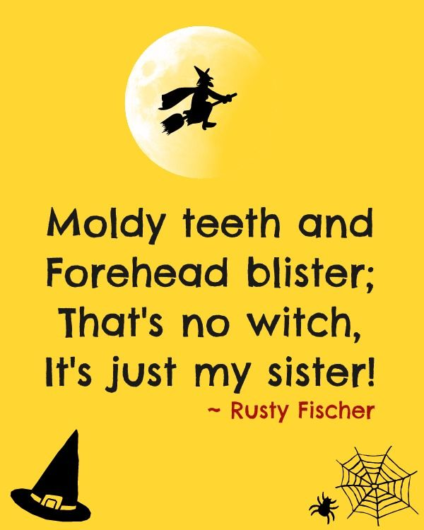 Lovely Thatu0027s No Witch! A Halloween Poem.