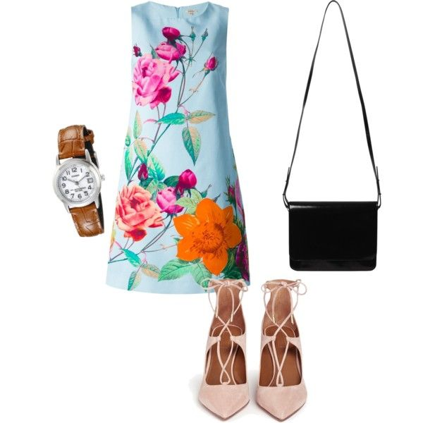 Elegantly ready by navybluebubble on Polyvore featuring polyvore fashion style P.A.R.O.S.H. Aquazzura Monki Casio
