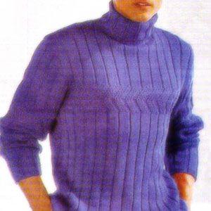 Как связать мужской свитер?