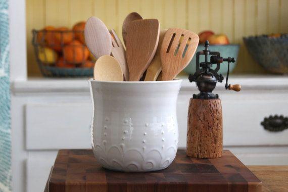 Image gallery large utensil holder - Unique kitchen utensil holder ...