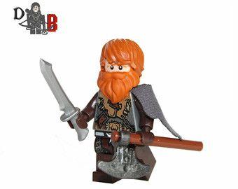 Medida juego de tronos Tormund Giantsbane minifigura hecho con LEGO y piezas de encargo