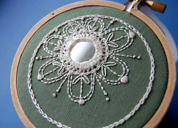 Ivory on Sage Green by SeptemberHouse on etsy