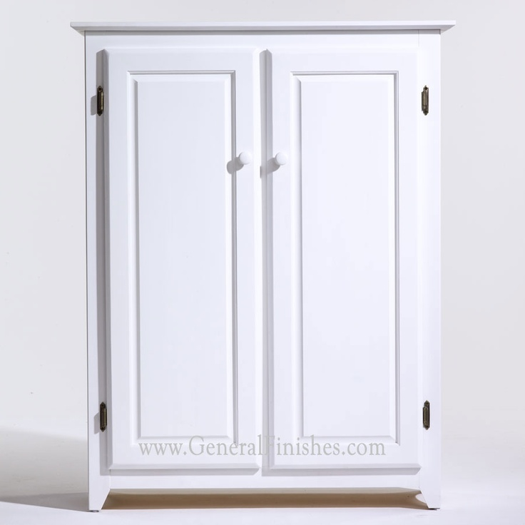 Snow White Milk Paint from www.generalfinishes on unfinished furniture pantry. Available at unfinished furniture stores - www.buyunfinishedfurniture.com, Rockler and Woodcraft Woodworking stores throughout U.S. Custom colors also available.