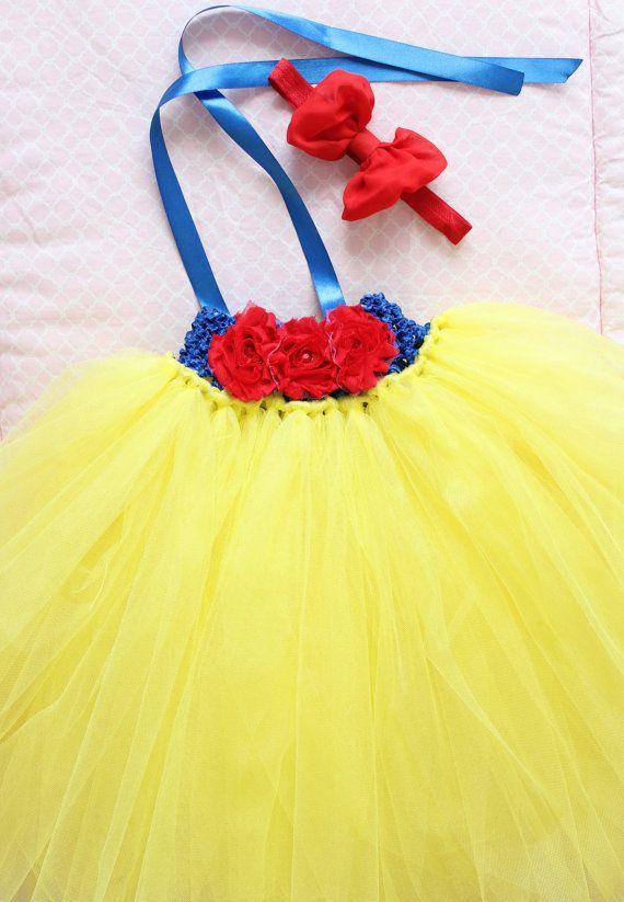 Beautiful Snow White Tutu Dress Costume with by AverysCoutureLook