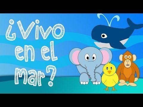 ¿Que animales viven en el mar? - Juego educativo para niños - YouTube