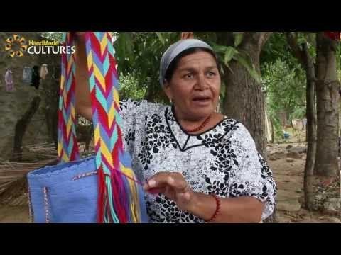 Mochilas Wayúu de un sólo color (Unicolor). Hechas a mano por los indígenas Wayúu de Colombia - YouTube