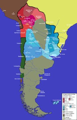 Viceroyalty of the Río de La Plata administrative divisions
